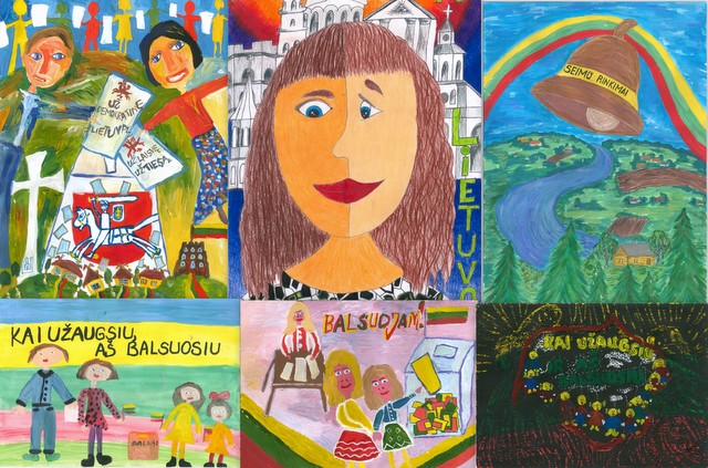 Children's drawing competition winners awarded in the Seimas