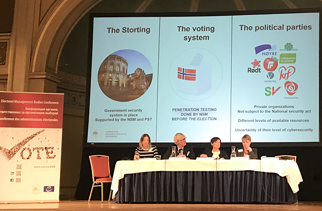 "15th European Conference of Electoral Management Bodies ""Security in Elections"
