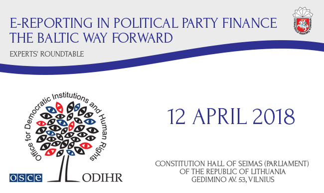 E-Reporting in Political Party Finance – Lessons from the Baltic States