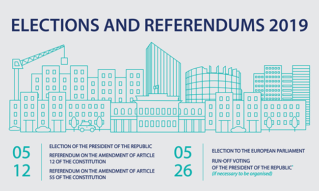 The forthcoming elections and referendums in 2019