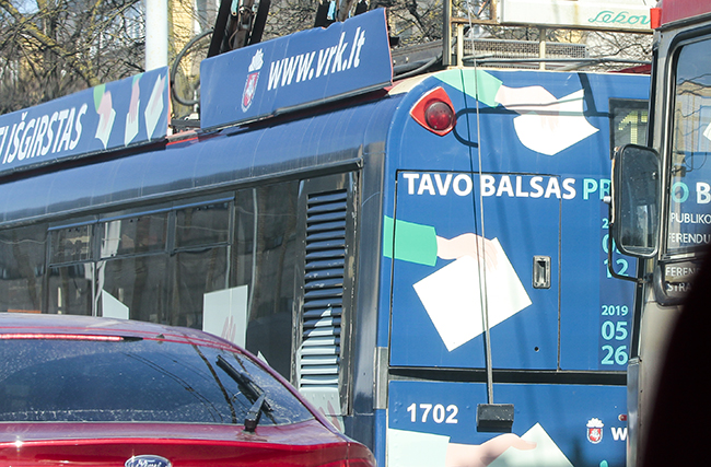 We invite you to catch an election bus or trolleybus!