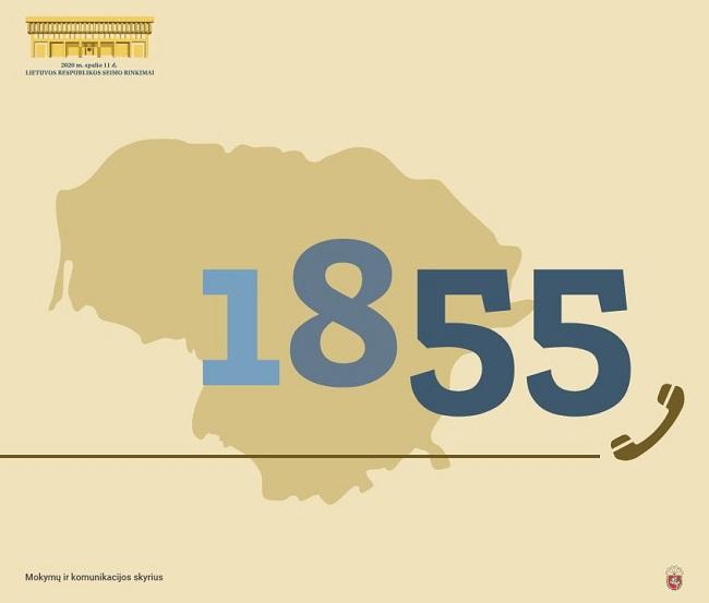 Pradeda veikti trumpasis informacijos apie rinkimus numeris 1855